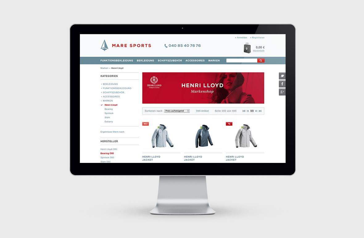 Mare Sports – Online Shop