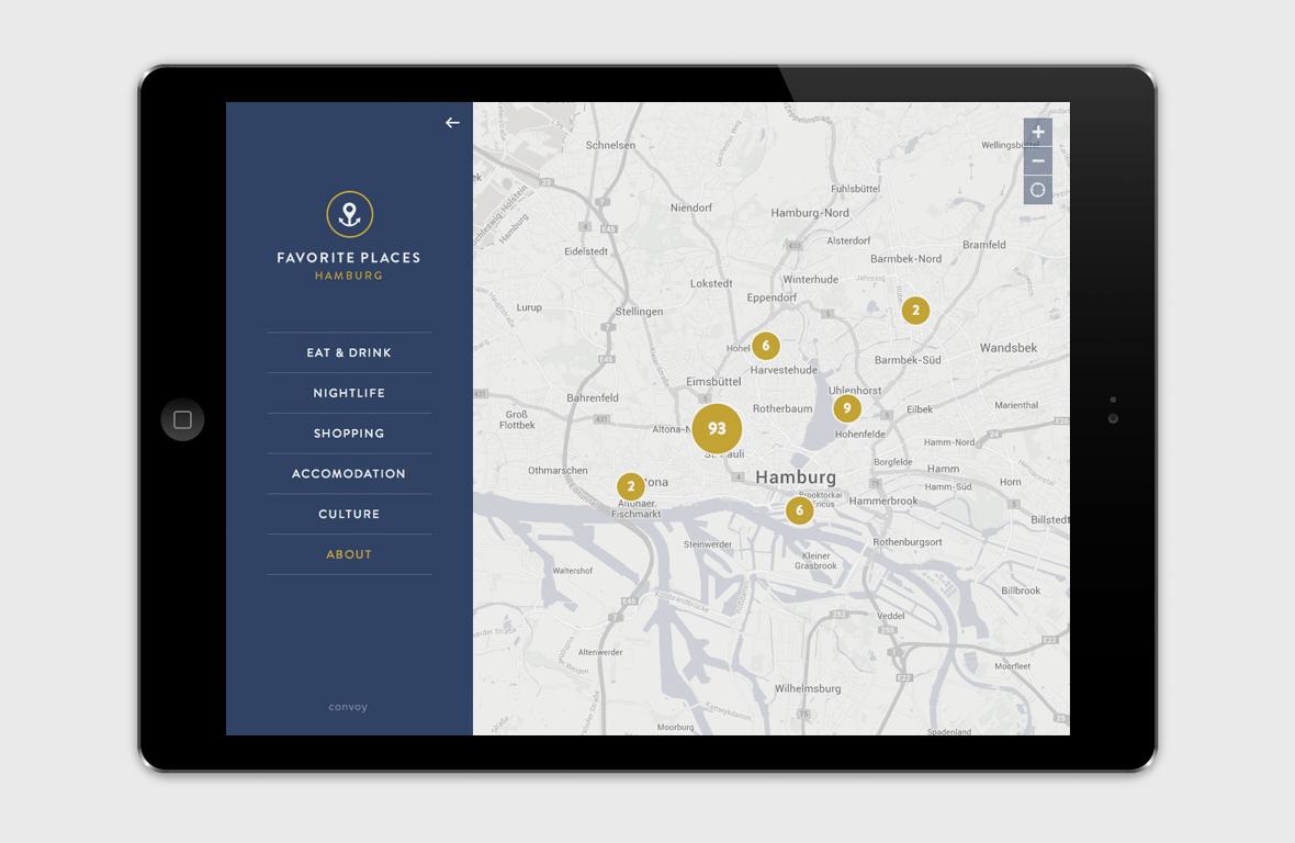 Favorite Places Hamburg – Web App