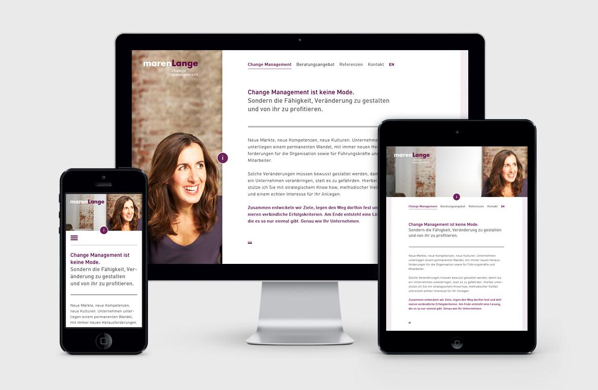 Maren Lange – Portfolio Website