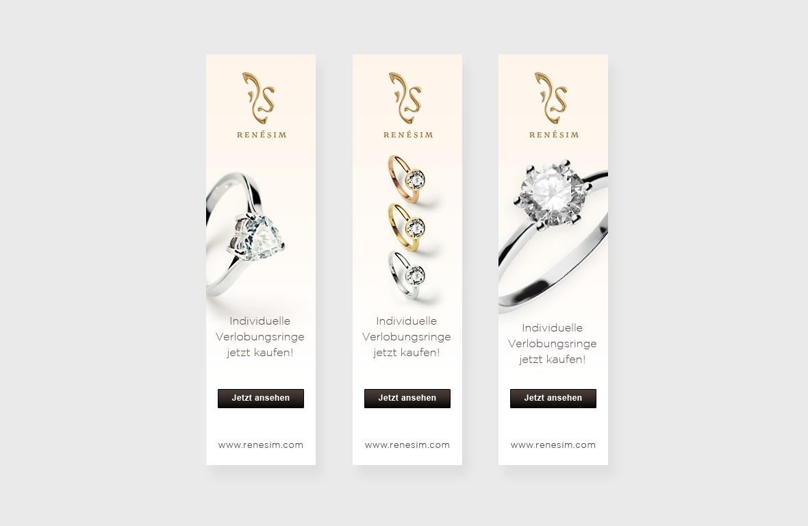 RenéSim Online Juwelier – Bannerkampagne