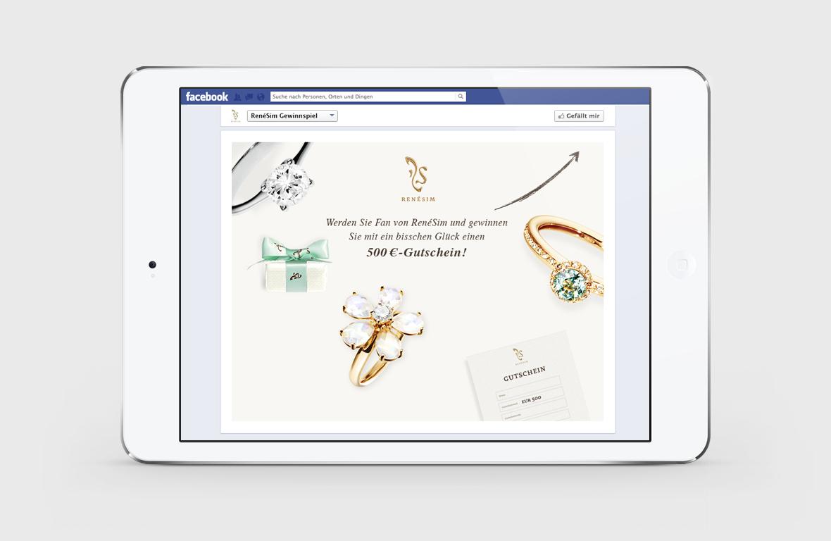 RenéSim Online Juwelier – Facebook Gewinnspiel
