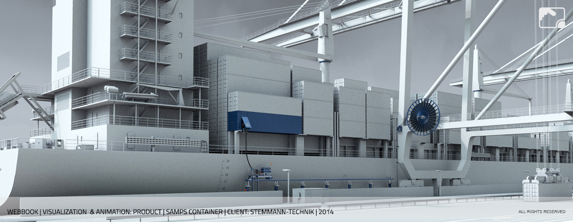 Animation SAMPS Container Stemmann-Technik